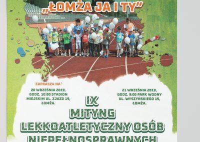 """Plakat dla Fundacji """"Jaity"""" IX MITYNG LEKKOATLETCZNY OSÓB NIEPEŁNOSPRAWNYCH"""