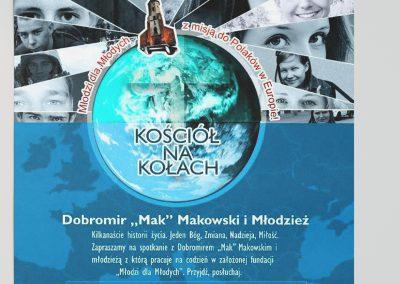 Plakat misyjny KOŚCIÓŁ-NA-KOŁACH 2015