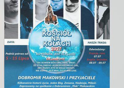 Plakat misyjny KOŚCIÓŁ-NA-KOŁACH 2017