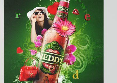 Projekt plakatu Piwa REDDS