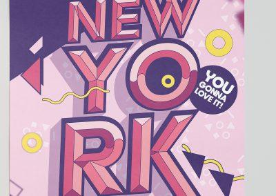 Projekt Plakatu NewYork